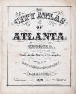 Title Page: City Atlas of Atlanta