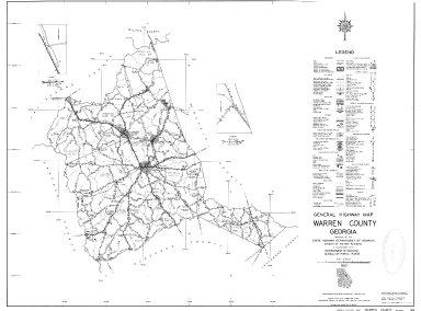 General Highway Map, Warren County, Georgia. 1953.