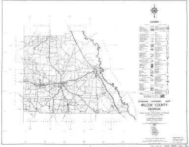 General Highway Map, Wilcox County, Georgia. 1953.