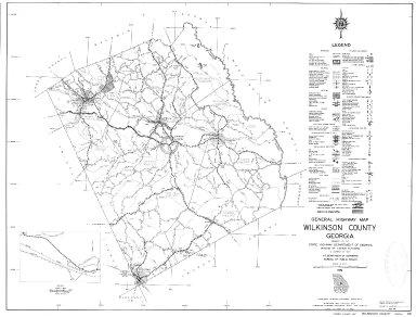 General Highway Map, Wilkinson County, Georgia. 1953.