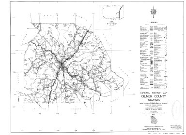 General Highway Map, Gilmer County, Georgia. 1953.
