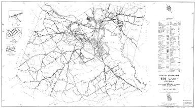 General Highway Map, Bibb County, Georgia. 1953.