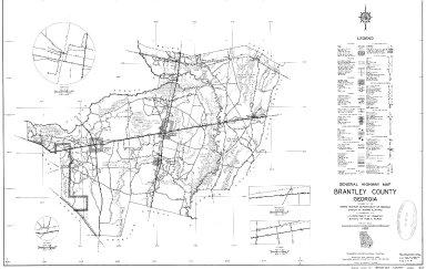 General Highway Map, Brantley County, Georgia. 1953.