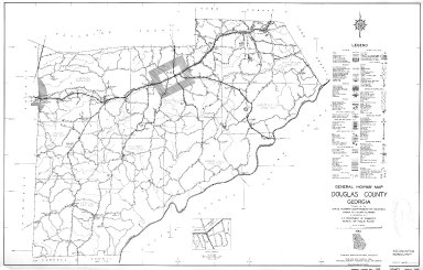 General Highway Map, Douglas County, Georgia. 1953.