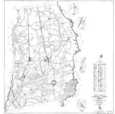 General Highway Map, Effingham County, Georgia. 1953.