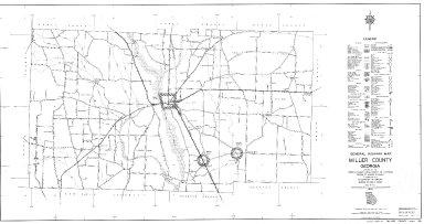 General Highway Map, Miller County, Georgia. 1953.
