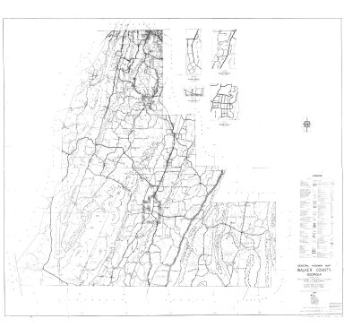 General Highway Map, Walker County, Georgia. 1953.