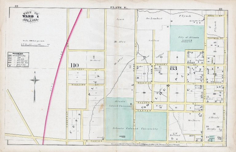Plate E: Part of Ward 1: Atlanta
