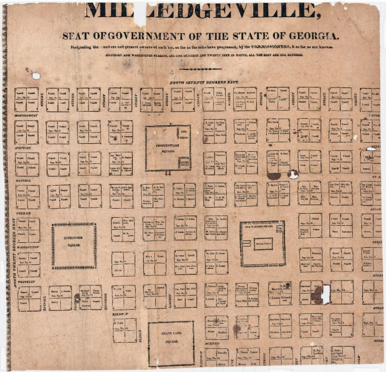 A Plan of Milledgeville, seat of government of the state of Georgia