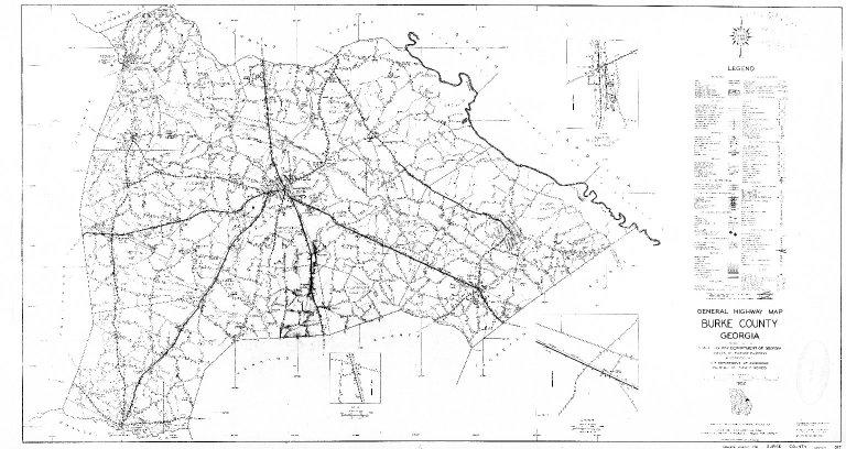 General Highway Map, Burke County, Georgia. 1952.