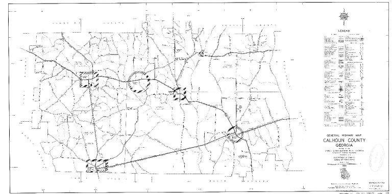 General Highway Map, Calhoun County, Georgia. 1953.