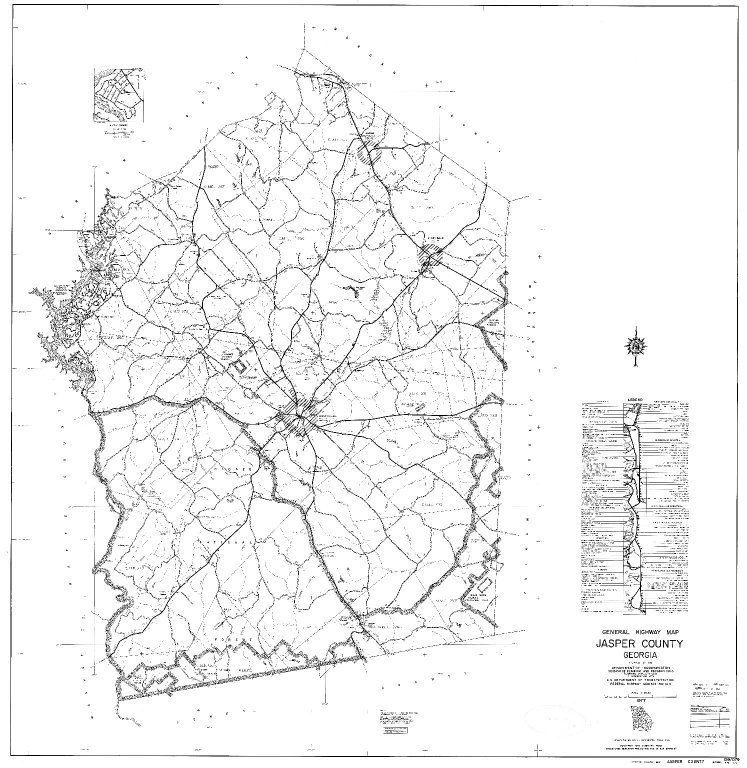 General Highway Map, Jasper County, Georgia. 1977.