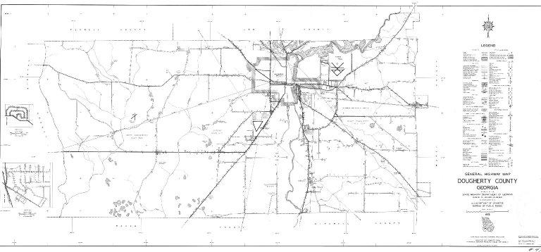 General Highway Map, Dougherty County, Georgia. 1953.
