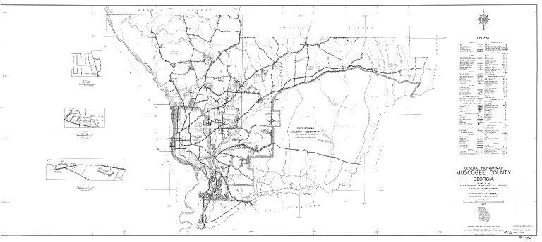 General Highway Map, Muscogee County, Georgia. 1953.