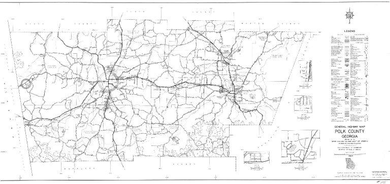 General Highway Map, Polk County, Georgia.1954.