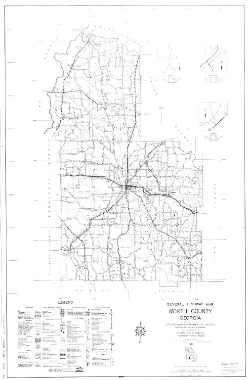 General Highway Map, Worth County, Georgia. 1951.