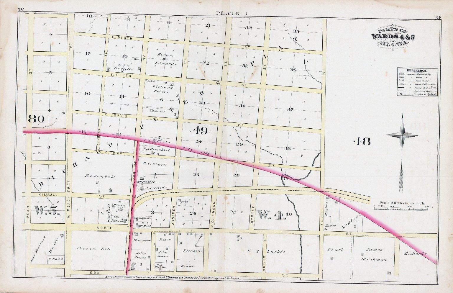 Plate I: Parts of Wards 4 & 5: Atlanta
