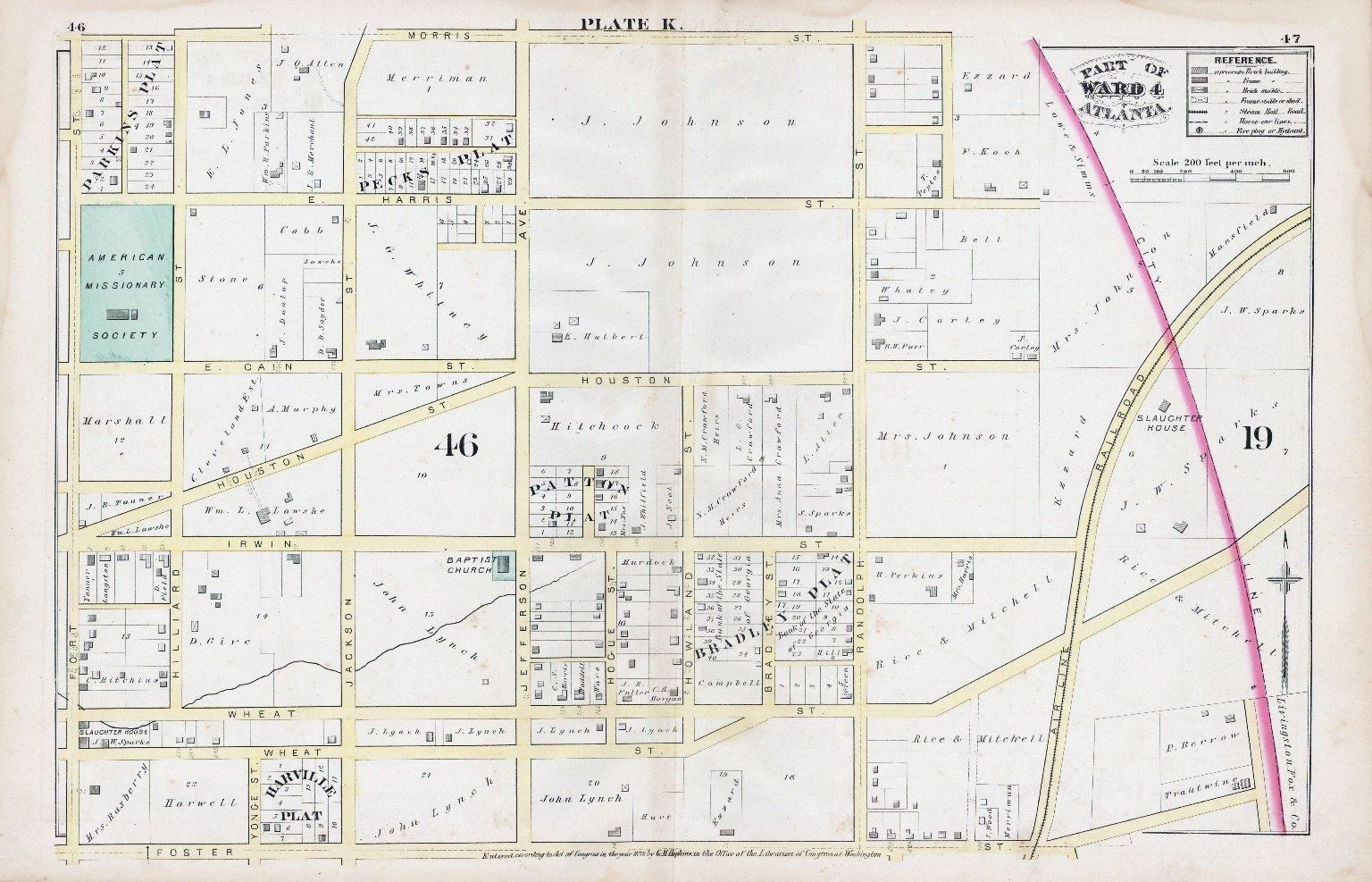 Plate K: Part of Ward 4: Atlanta
