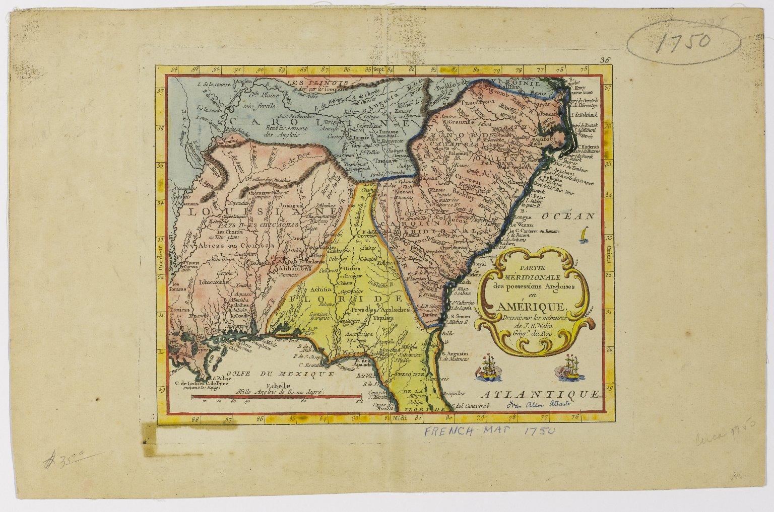 Partie Meridionale des possessions Angloises en Amerique